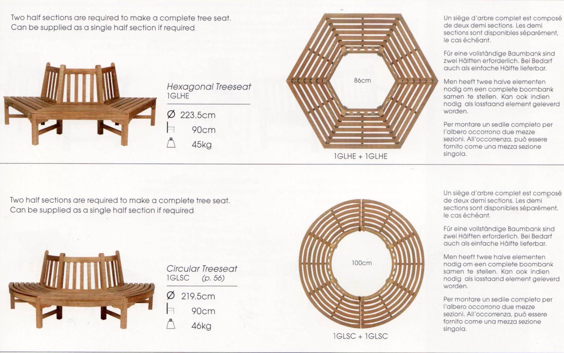 baumbank glenham hexagon glhe von werkdesign im designlager d lmen. Black Bedroom Furniture Sets. Home Design Ideas