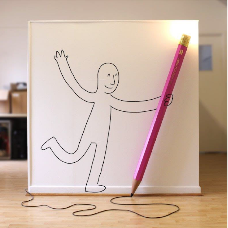 Stehleuchte GIANT DREW THE PENCIL LAMP individuell