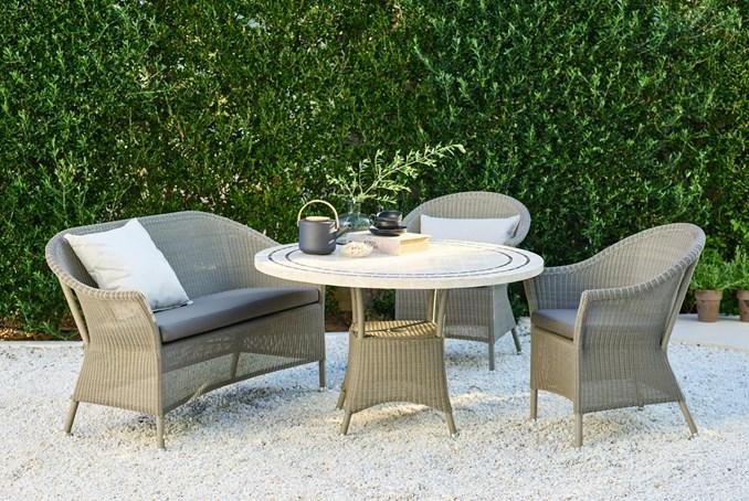 gartentisch lloyd loom lansing klein von werkdesign im. Black Bedroom Furniture Sets. Home Design Ideas