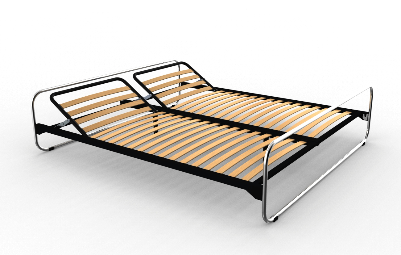 Roth split double bed 455 by embru