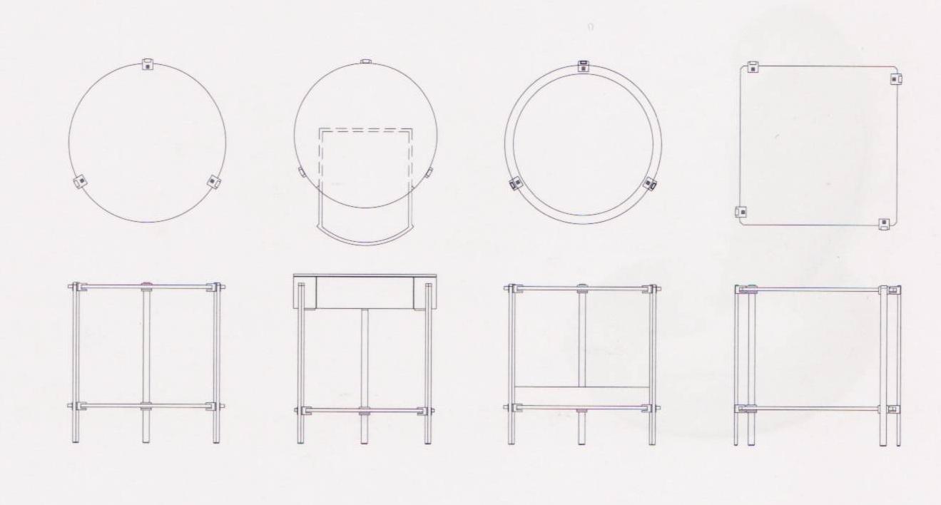 beistelltisch mit schublade pioneer t79l rund von ghyczy im designlager d lmen. Black Bedroom Furniture Sets. Home Design Ideas