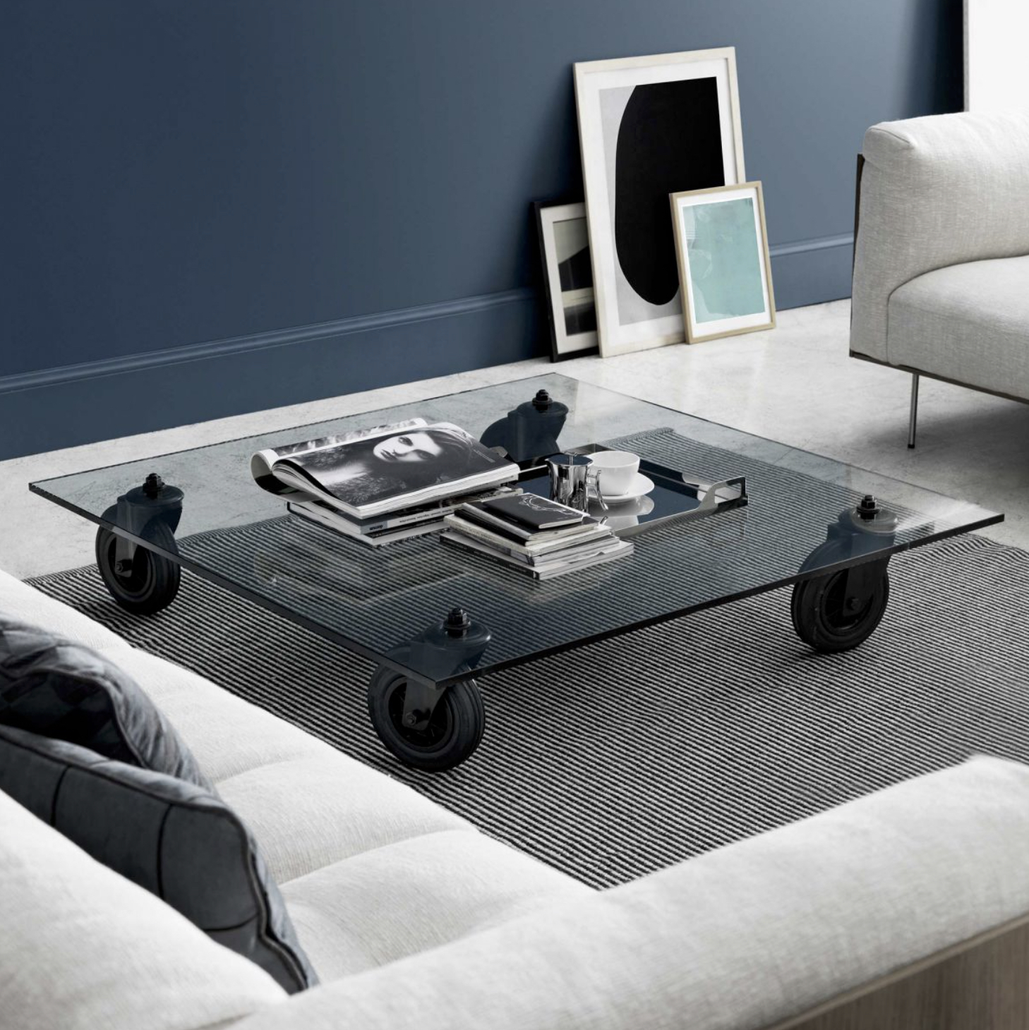 Coffee table tavolo con ruote