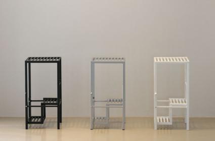 hocker klapptritt leiter aero step von werkdesign im designlager d lmen. Black Bedroom Furniture Sets. Home Design Ideas