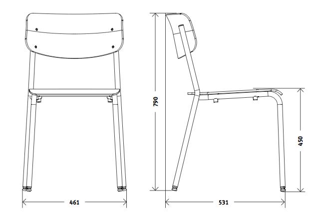hassenpflug stuhl 1255 von hassenpflug im designlager d lmen. Black Bedroom Furniture Sets. Home Design Ideas