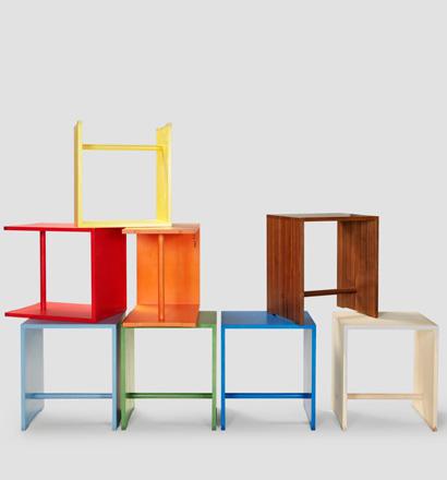ulmer hocker nussbaum von bill gugelot im designlager d lmen. Black Bedroom Furniture Sets. Home Design Ideas
