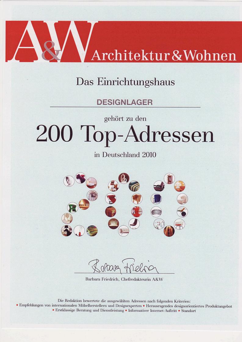 Designlager unter top 200 von architektur und wohnen for Design tisch taschenrechner
